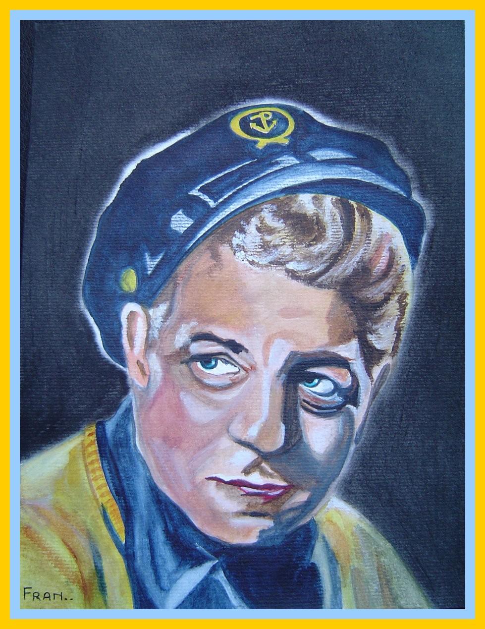 Portrait de Gabin à la peinture.